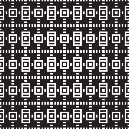 Geometric seamless pattern black and white of squares. Vector. Regular structure for fabric design, scrapbooking patterns, cosmetics, chocolate packaging design. Stok Fotoğraf - 124987323