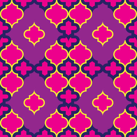 Moroccan Quatrefoil Seamless Pattern Mosaic Ogee Vector