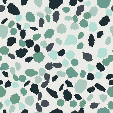 Terrazzo seamless pattern. Imitation of a Venetian stone floor Vectores