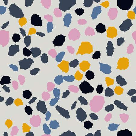 Terrazzo seamless pattern. Imitation of a Venetian stone floor