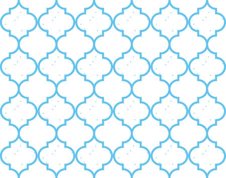 Moroccan Quatrefoil Seamless Pattern. Mosaic Motif Ogee For Ethnic Background. Suitable For Decorating Baby Shower Card, Wedding, Surface Design, Fabrics, Textiles Wrapping Paper Stock fotó - 124075667