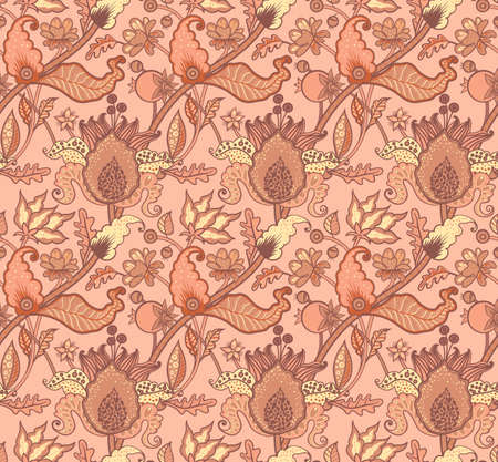 Indian National paisley ornament for cotton, linen fabrics. Tribal flowers seamless pattern. Bohemian ornament for taps. Texture for wrapping, skins smartphones, textile wallpapers, surface design