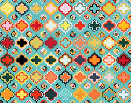 Moroccan Qua trefoil Seamless Pattern Vettoriali