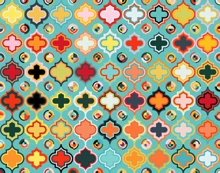 Moroccan Qua trefoil Seamless Pattern Illustration