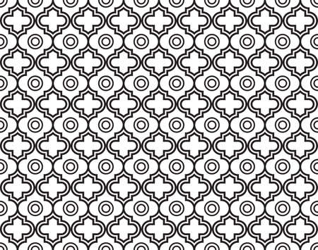 Moroccan Quatrefoil Seamless Pattern. Mosaic Motif Ogee For Ethnic Background. Suitable For Decorating Baby Shower Card, Wedding, Surface Design, Fabrics, Textiles Wrapping Paper Stock fotó - 122516193