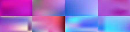 Set of Smooth abstract colorful mesh backgrounds Soft pink blue gradient. Modern blazing backdrop for poster, banner, mobile app screen, invitations. Vector design.