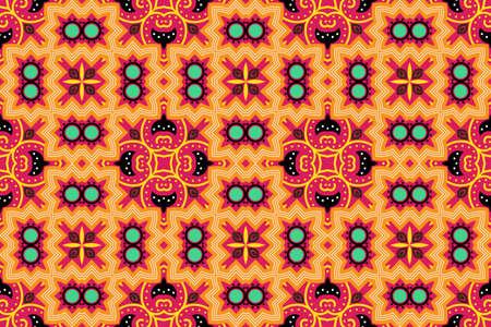 Portuguese azulejo tiles. Encaustic seamless patterns, prints Vetores