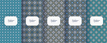 Set of seamless patterns for men clothing, ties, tuxedos
