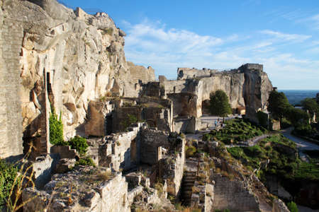 The ruins of the castle in Les Baux-de-Provence, Provence, France Stock Photo
