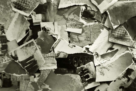 Hintergrund aus Fetzen von alten Fotos