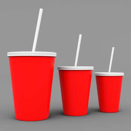 mock up: Paper cup mock up. 3D rendering