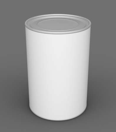 tin: Tin can mock up on grey background