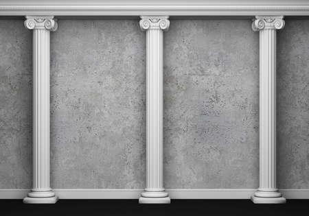 roman pillar: Classic interior with column. 3d rendering Stock Photo