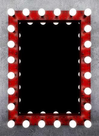 Steampunk Make-up-Spiegel auf der Betonwand Standard-Bild - 61085116
