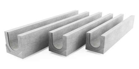 drainage: Concrete drainage tray