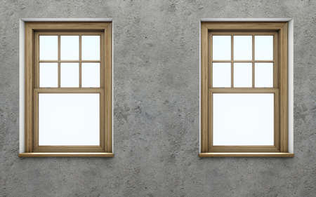 blank wall: Blank wall with window Stock Photo