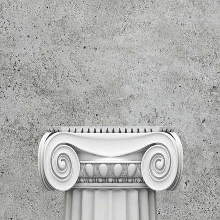 doric: Classic pedestal on concrete background