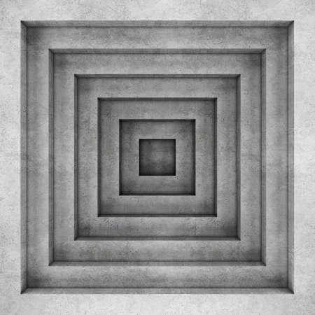 boxy: Geometric concrete background. 3D rendering Stock Photo