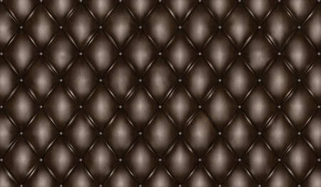 chester: English black genuine leather upholstery, chesterfield style background. 3D rendering