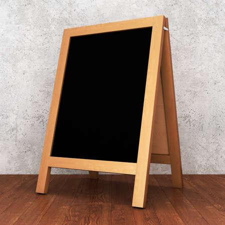 Blank menu chalkboard. 3D rendering