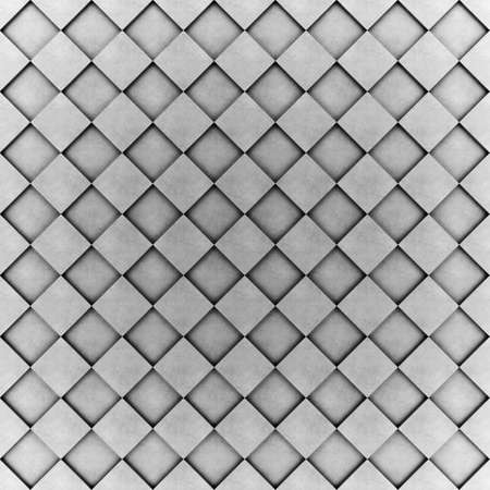 Wall of concrete cubes in checkerboard pattern. 3D rendering Stock Photo