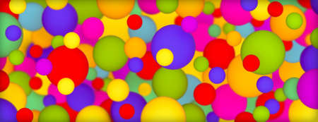 Background with multi-colored matte balls. 3D rendering