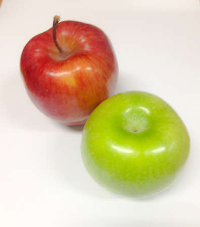 reflective: Red and Green apples Stock Photo