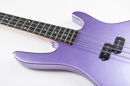Bass guitar on white background Stock Photo - 22345274