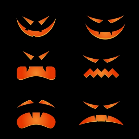 Scary faces for halloween Illustration