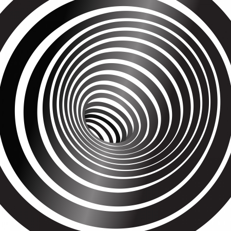 Black and white tunnel  background Vector