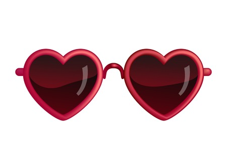 heart shape: Heart Sunglasses Isolated On White