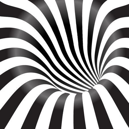 나선: 검은 색과 흰색 터널 배경
