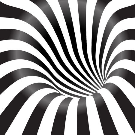 optical illusion: Black and white tunnel  background