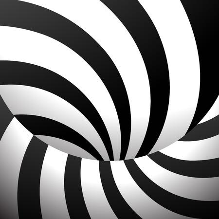 Black And White Vector Spiral Ilustração