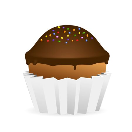 Vector Cupcake Isolated On White Vector