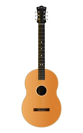 Vector Guitar Isolated On White Stock Vector - 23007936