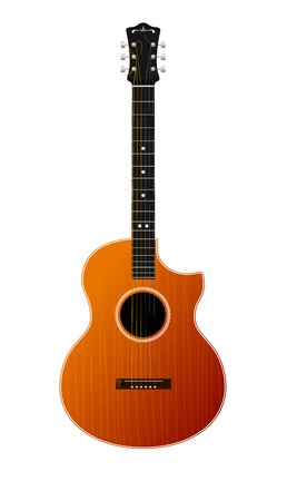 Vector Guitar Isolated On White Stock Vector - 23007937