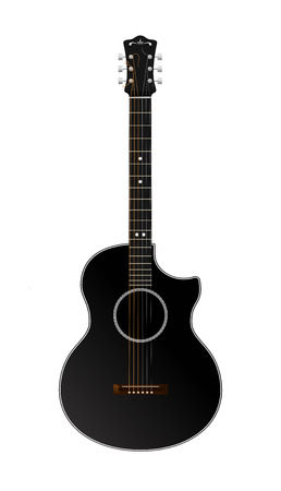 Vector Guitar Isolated On White