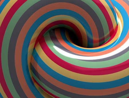 Abstract Color Hypnotic Spiral. 3d Stock Photo