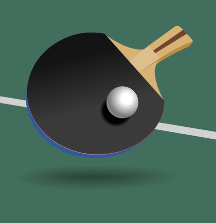 raquet: Table Tennis Racket and ball