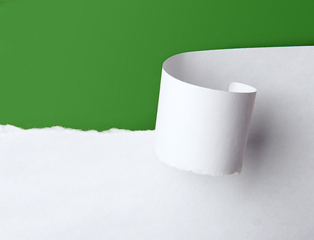 Torn white paper Standard-Bild