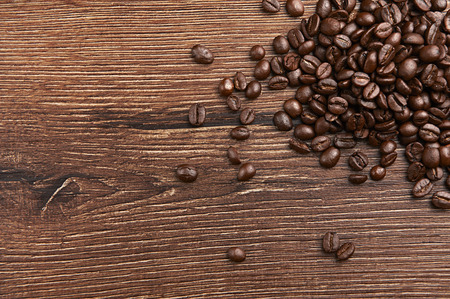 coffeetree: Coffee on wooden table