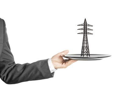 energetics: Electric power tower  on the plate