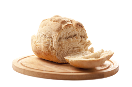 Homemade bread isolated on a white background Banco de Imagens