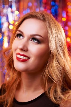 Woman make-up with shiny glitter