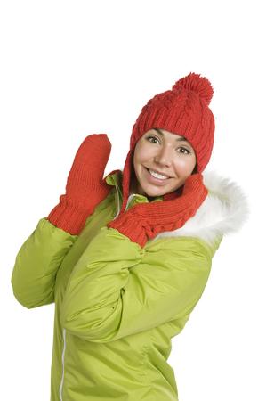 Portrait of beautiful woman in hat