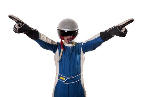 Racer is happy to win