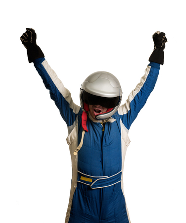 Racer is happy to win