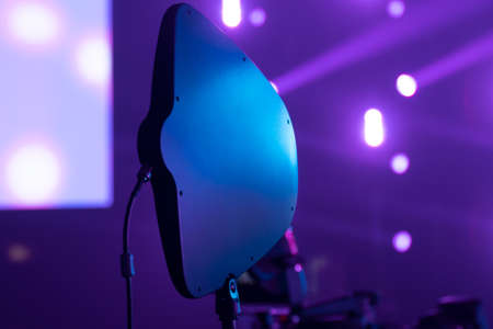The antenna of the radio system during the concert is directed to the stage