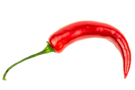 red hot pepper on a white background studio set